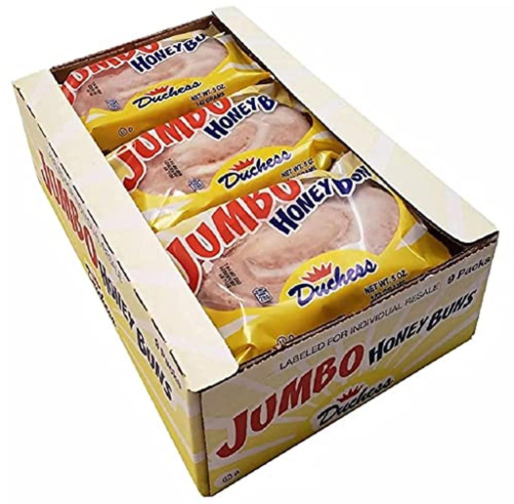 Jumbo Honey Buns by Duchess   5 Ounce   9 Pack Case