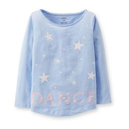 Carter's Little Girls' Cotton Jersey Dance Top - Blue