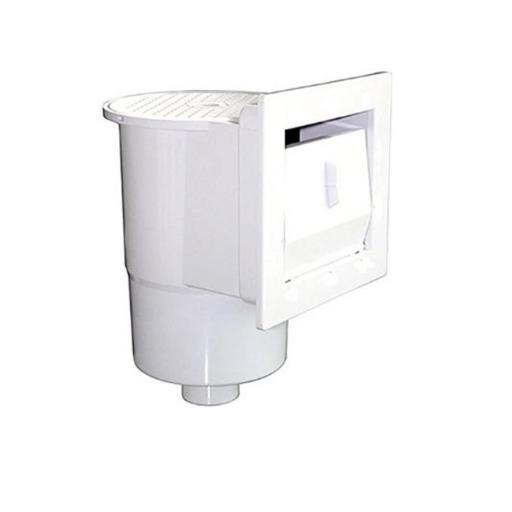 Northlight 32038679 12.5 in. White Thru Wall Skimmer for Above Ground Swimming Pool with Face Plate