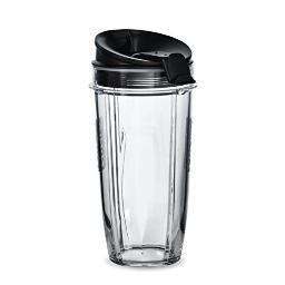 Ninja - 24-Oz. Tritan Nutri Ninja Cups with Sip & Seal Lids (2-Pack) - Black/Clear XSK2424