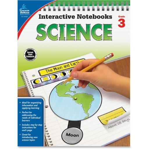 Carson-Dellosa CDP104907 Grade 3 Science Interactive Notebook, 96 Pages OULXOABSK9H1DMML