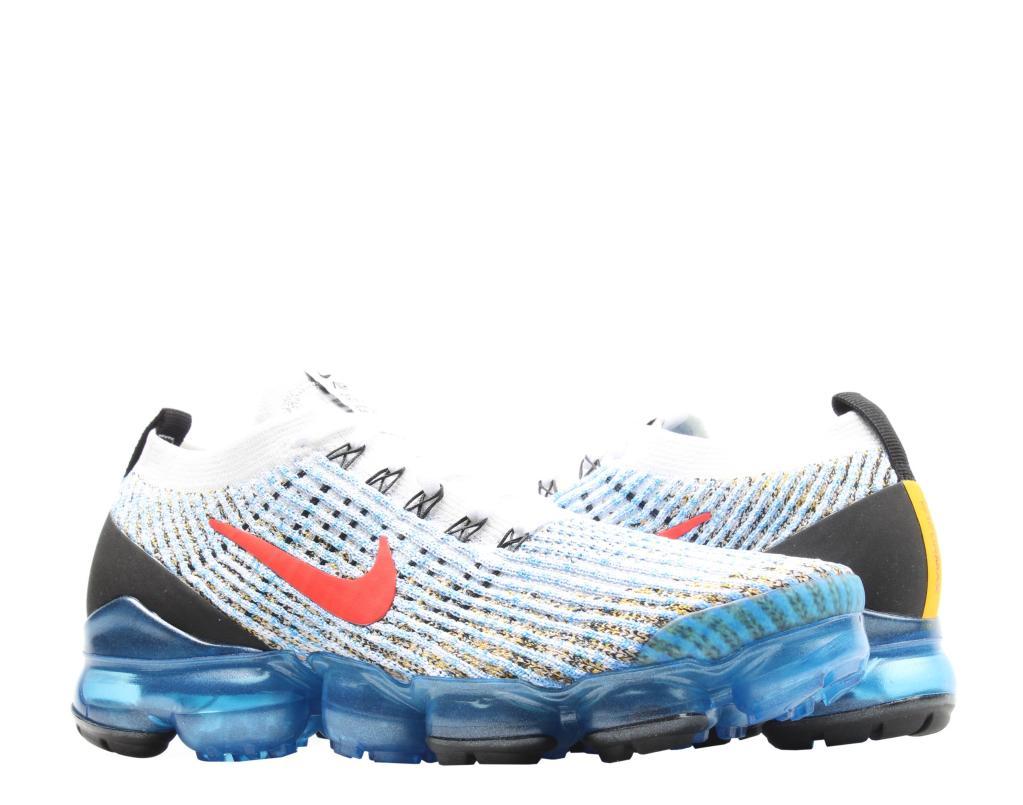 Nike Air VaporMax Flyknit 3 WhiteRed Blue Women's Running Shoes AJ6900 106