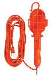 Woods 0201 Extra Flexible Cord Trouble Light, 25', Orange
