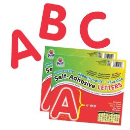 Pacon (2 pk) self adhesive letter 4in red