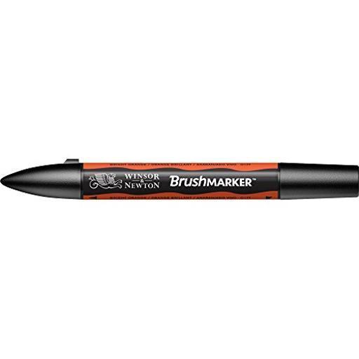 Winsor & Newton / Colart 0204051 Wn Brush Marker Bright Orange (O177)