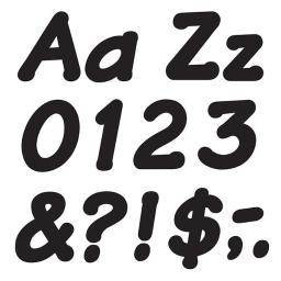 Trend Enterprises T-2703BN 4 in. Italic Ready Letters, Black - Pack of 6