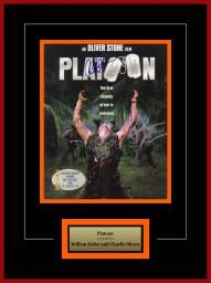 Platoon - Signed By William Dafoe And Charlie Sheen - Framed Artist Series