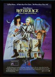 Beetlejuice - Signed Movie Poster