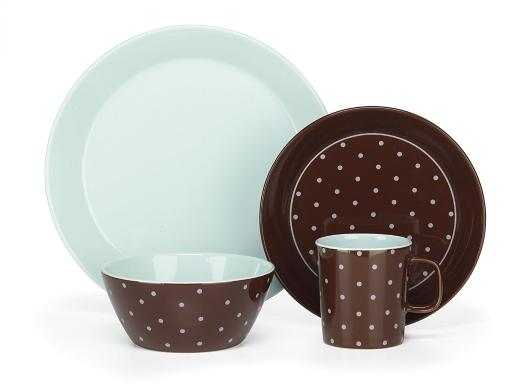 Cuisinart CDST1-S4BB Stoneware Camila Collection 16-Piece Dinnerware Sets