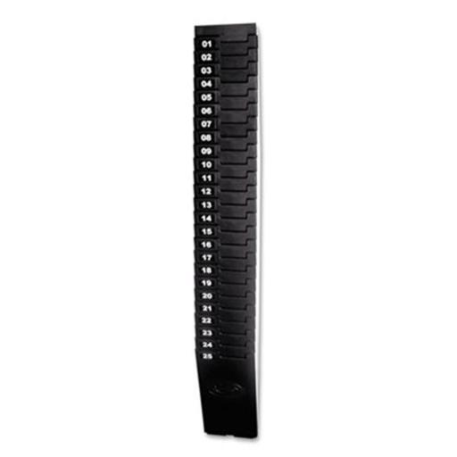 Lathem Time 257-EX Expandable Time Card Rack, 25-Pocket, Holds Seven Inch Cards, Black Plastic