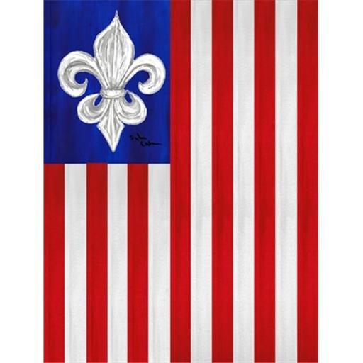 Carolines Treasures 8138GF 11 x 15 in. USA Fleur de lis Patriotic American Garden Size Flag