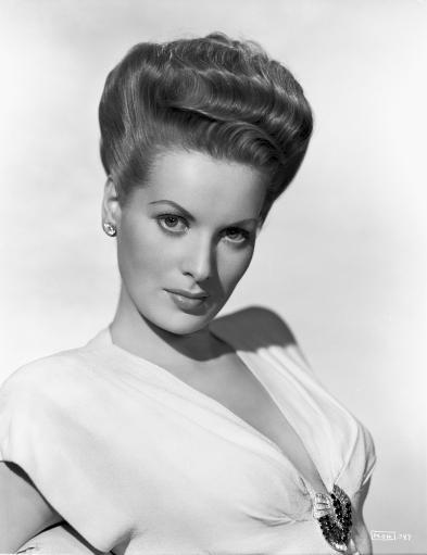 Maureen O'Hara wearing White Deep V-neck Dress Photo Print
