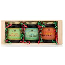 Pepper Creek Farms CRT-004 Pepper Jelly Gift Crate - Pack of 6