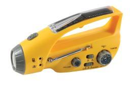 Rothco Solar/Wind-Up Flashlight with Radio 80003