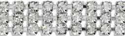 """Triple Row Rhinestone Chain Trim 3/8""""X5yd-Crystal IR8076-CR"""