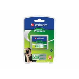 VERBATIM AMERICAS LLC 96196 8GB PREMIUM COMPACTFLASH MEMORY CARD
