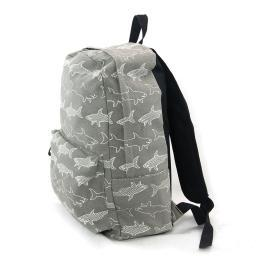 Grey and White Shark Infested Canvas Backpack