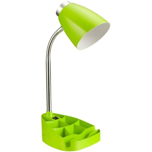 All The RagesLD1002-GRN Gooseneck Organizer Desk Lamp with iPad Stand or Book Holder - Neon Green