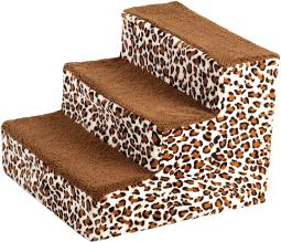 3 Step Dog Staircase (Leopard)