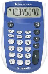 Texas Instruments Ti 503 Sv Basic Battery Calculator - Blue