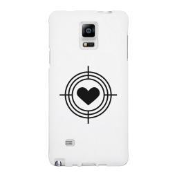 To Heart Target-Right White Phone Case
