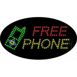 Sign Store L100-1936-outdoor Free Phone Animated Outdoor LED Sign, 27 x 15 x 3.5 In.