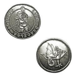 Dracula Silver Coin Collectible Vlad Dragon Impaler Vampire Transylvania