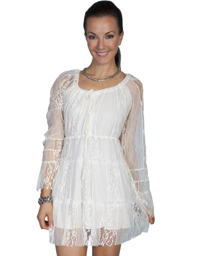 Scully Western Dress Womens Lined Lace Long Sleeve Pullover HC81 PAUN9EBYU0OC5VUC
