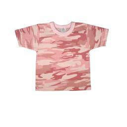 New Baby Pink Camo, Girl Cotton T-shirt Infant-Toddler