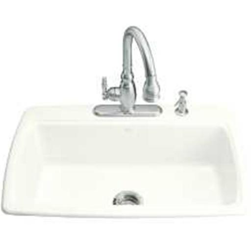 Kohler Company 114758 Kohler Cape Dory Cast Iron 33X22X9 Sin Bowl Sink Self Rim White