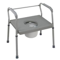 DMI 802-1208-0300 DMI Steel Commode  with Platform Seat