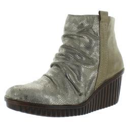 Bionica Womens Destiney Snake Print Metallic Ankle Boots