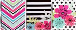 """Studio C 1-subject Notebook 10.5""""x8.5"""" 80 Sheets-sugarland, College Rule, Assorted Colors"""