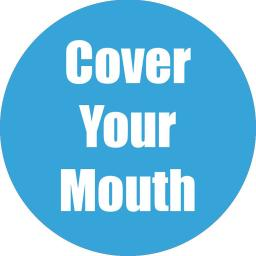 Flipside products cover ur mouth cyan anti-slip floor