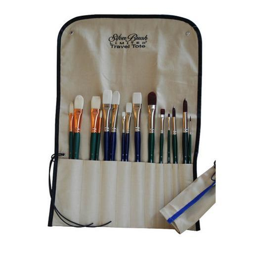 Silver Brush Limited 9580 Brush Travel Tote For Long Handle Brushes
