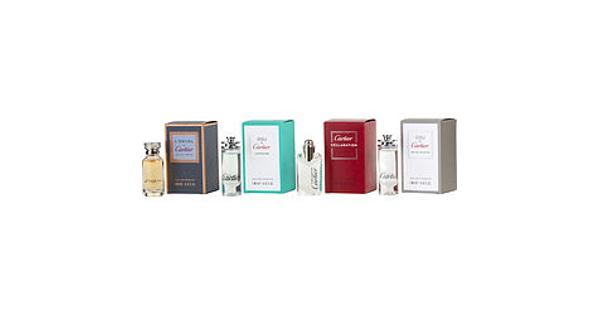 Cartier 4-Piece Mini Variety Set For Men (Declaration, L'envol, Eau De Cartier, Eau De Cartier Concentree) 4 PIECE MINI VARIETY SET WITH DECLARATION EDT & L'ENVOL DE CARTIER EDP & EAU DE CARTIER EDT & EAU DE CARTIER CONCENTREE EDT AND ALL ARE MINIS
