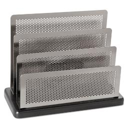 """Distinctions Mini Sorter 3 Sections Dl To A5 Size Files 7.5"""" X 3.5"""" X 5.75"""" Black/Silver   Total Quantity: 1"""