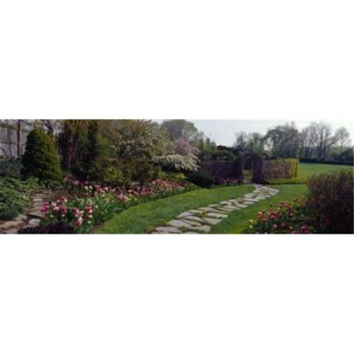 Panoramic Images PPI107702L Flowers in a garden Ladew Topiary Gardens Monkton Baltimore County Maryland USA Poster Print by Panoramic Images - 36