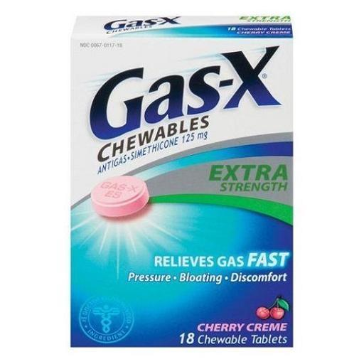 Gas-X Extra Strength Cherry Creme Chewable Tablets