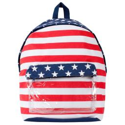 Lightweight Patriotic American Flag, All Purpose Laptop Computer Bag, Backpack