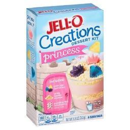 Jell-O Creations Dessert Kit Princess Cups