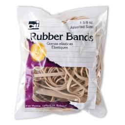 Charles leonard rubber bands natural color 1 3 8 oz 56381
