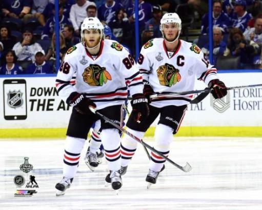 Patrick Kane & Jonathan Toews Game 1 of the 2015 NHL Stanley Cup Finals Photo Print MZVWIRKDKOVDWNYV