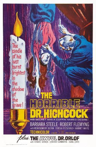 The Horrible Dr. Hichcock Us Poster Art 1962; Double Bill: The Awful Dr. Orlof 1962 Movie Poster Masterprint 3ASUVXUR5NPYM386