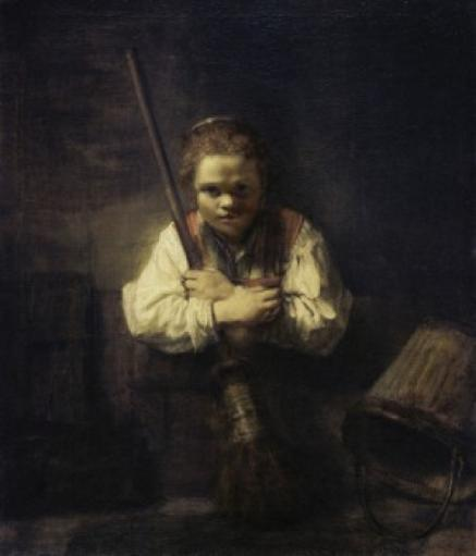 A Girl With a Broom, 1651, Carel Fabritius, Oil on canvas, National Gallery of Art, Washington, D.C, USA Poster Print