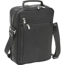 Piel Leather 2818-BLK Laptop Shoulder Bag - Black