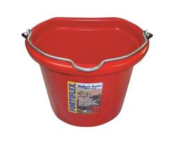 Fortex/fortiflex Fb108r Flat Side Bucket, Red