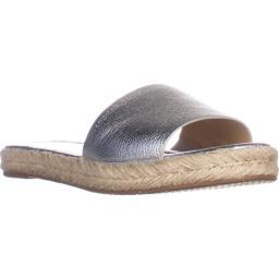 MICHAEL Michael Kors Dempsey Slide Sandals, Sliver Metallic Dempsey Slide