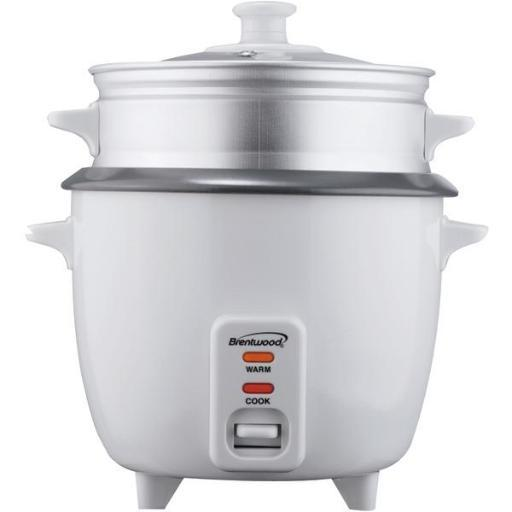 Brentwood Appliances Ts-600S Rice Cooker With Steamer (5 Cups, 400W)
