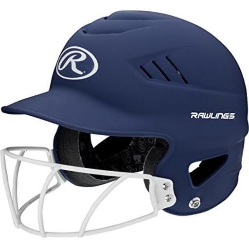 YCS 1007737 Rawlings Sporting Goods Highlighter Series Softball Helmet, Navy